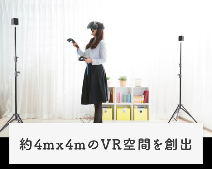 約4m×4mのVR空間を創出